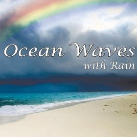 Ocean Waves with Rain Nature Sounds